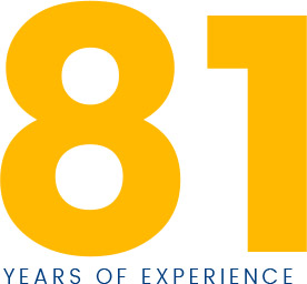 81 Years of experience